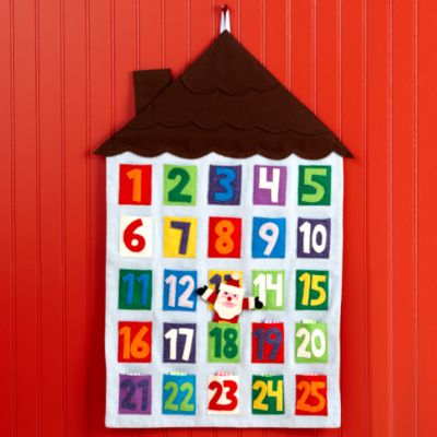 Land of Nod Here Comes Santa Clause Advent Calendar