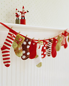 Baby Sock Advent Calendar Martha Stewart