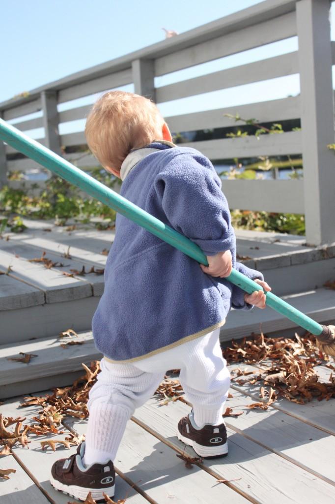 toddler working