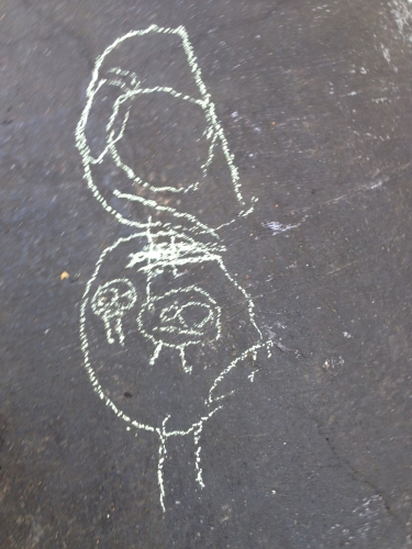 My four year old's portrait of me