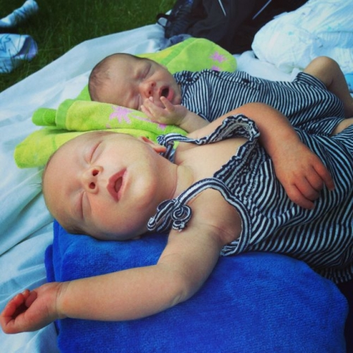 babies at the pool