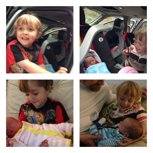 boys with babies collage