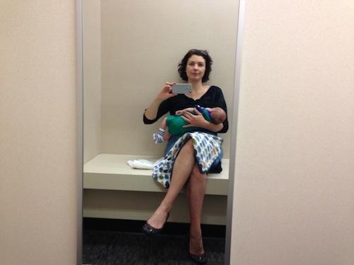 breastfeeding in dressing room 2